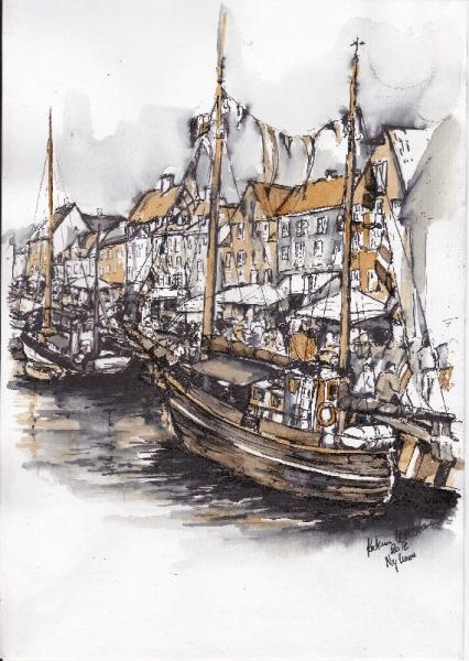 illustration af nyhavn