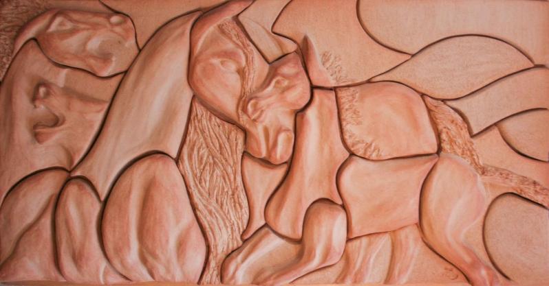 Heste relief
