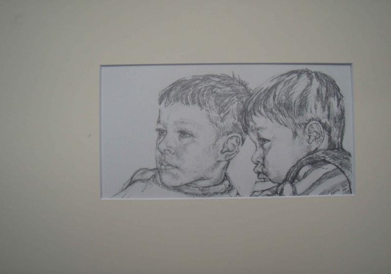tegnede drenge
