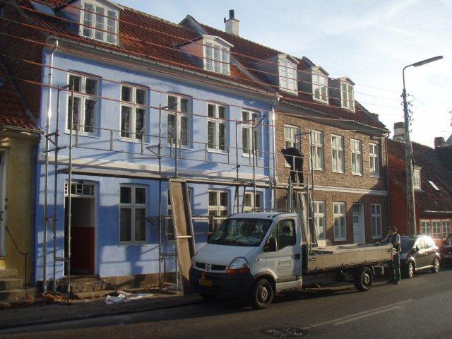 blå hus færdigt
