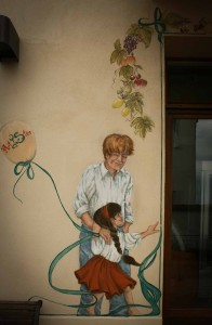 mand med pige, Artistico facademaleri