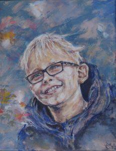 Portrætmaleri af Katrine Wettstein