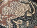 sten mosaikbord med epoxy fuge