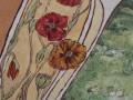 detaljer af kalkmaleri Lindehuset