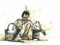 illustration af mand i Indien