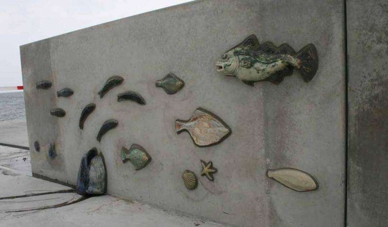 keramik fisk til Skovshoved havn