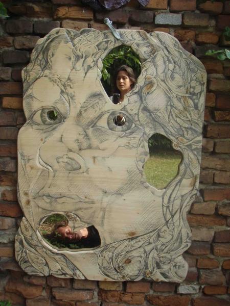 selvportræt med spejl