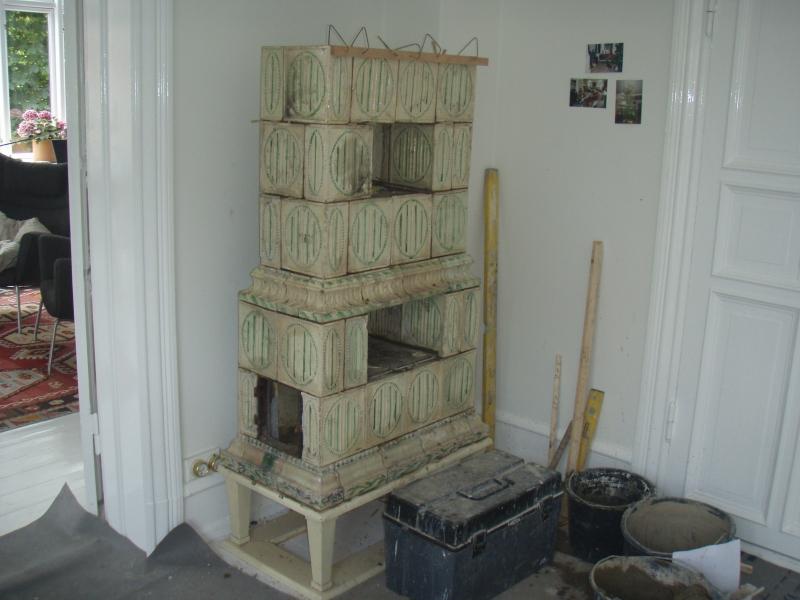 restaurering af kakkelovn