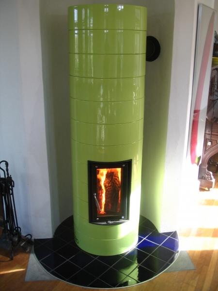 Grøn kakkelovn