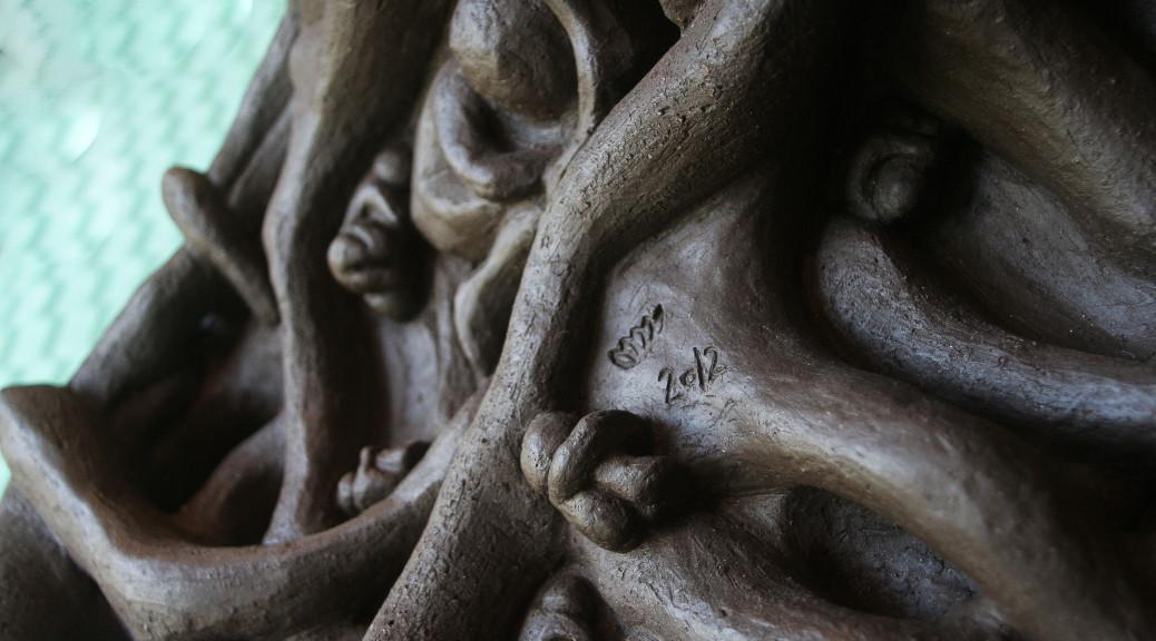 keramisk, skulptur