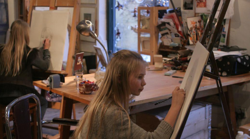 privat, tegneundervisning, blyantstegning, formgivning